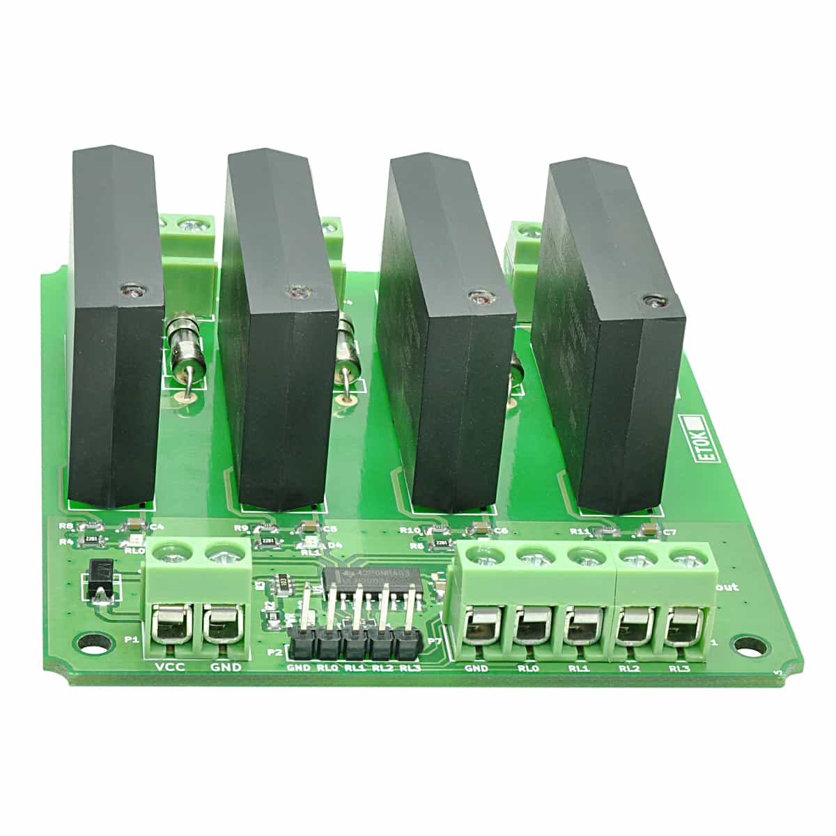 hight resolution of 4 channel solid state relay controller board