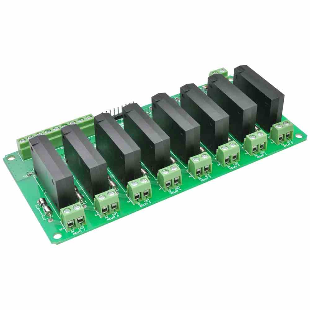 medium resolution of 8 channel solid state relay controller board