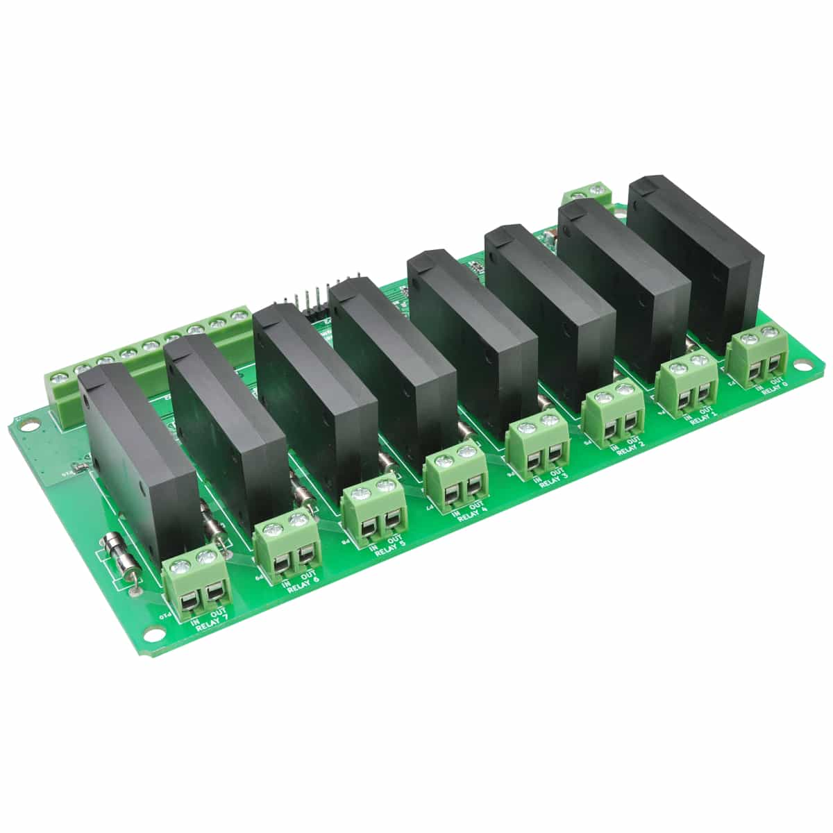 hight resolution of 8 channel solid state relay controller board