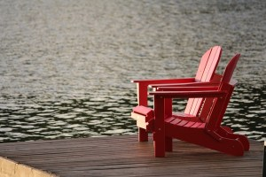 chairs on river
