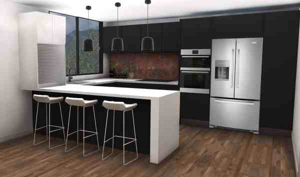 3D Interior Design, kitchen design, kitchen concept design in 3D