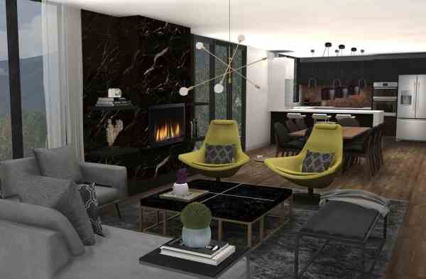 3D Interior Design, Living Room Design