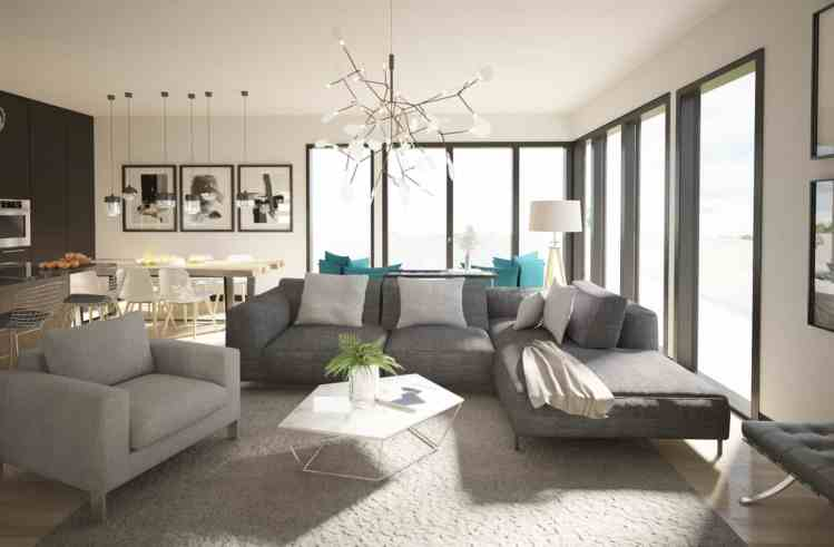 3D Interior Design, Living Room Design, Combined Living & Dining Room