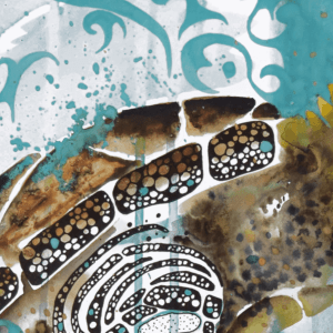 Humpback Whale Art - Sea Turtle Art