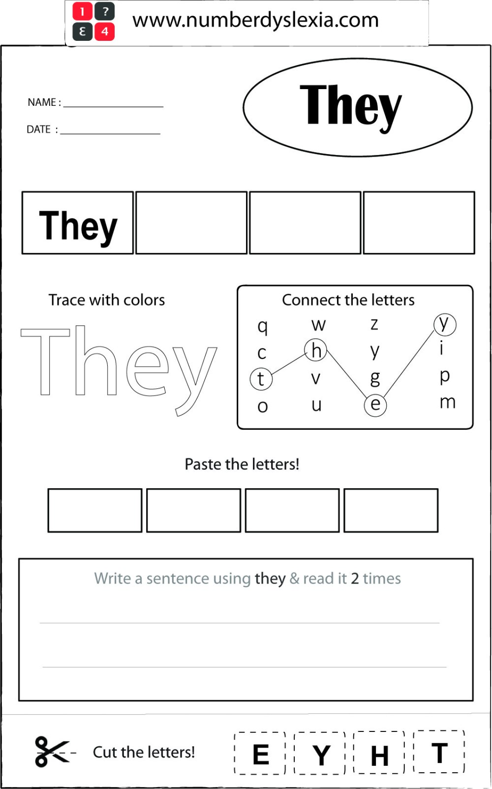 medium resolution of Free Printable Orton Gillingham Worksheet with Template PDF - Number  Dyslexia