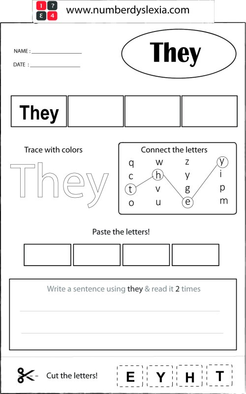 small resolution of Free Printable Orton Gillingham Worksheet with Template PDF - Number  Dyslexia