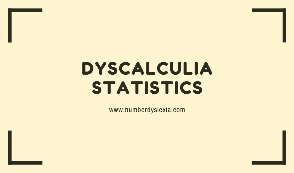 dyscalculia statistics, facts, prevalence, percentage