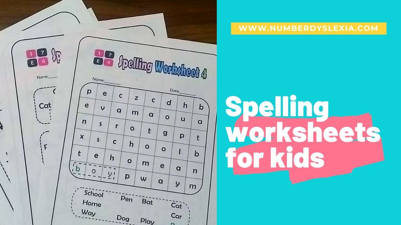 Free Printable Spelling Worksheets for grade 1 to 4 PDF - Number Dyslexia [ 720 x 1280 Pixel ]