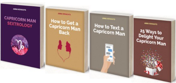 capricorn man secrets book set