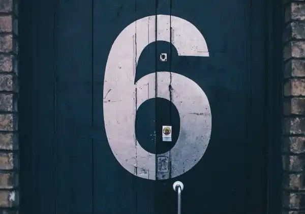 door with six number