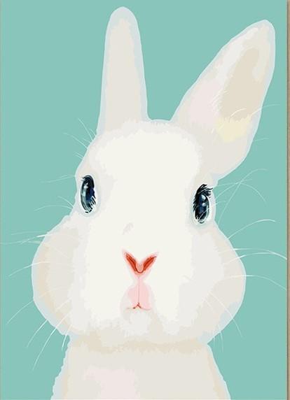 How To Paint A Rabbit : paint, rabbit, White, Rabbit, Animals, Paint, Number, Numeral