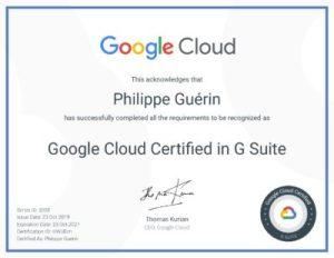Certifié Google Cloud en cours de validité