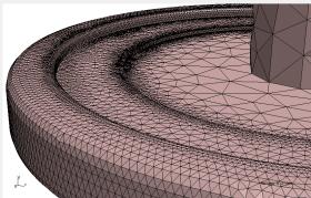 NetGen Close up mesh