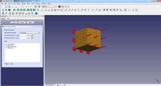 FreeCad 0.17 Gmsh Meshing