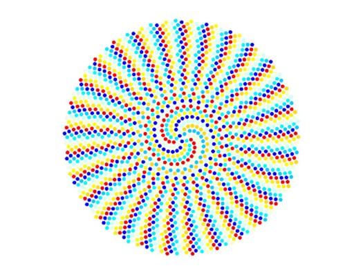 Fibonacci Python Generated Spiral