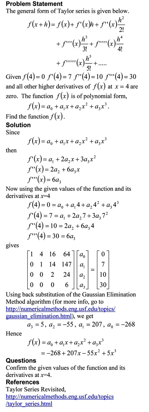 Taylor Series Exercise Method 2