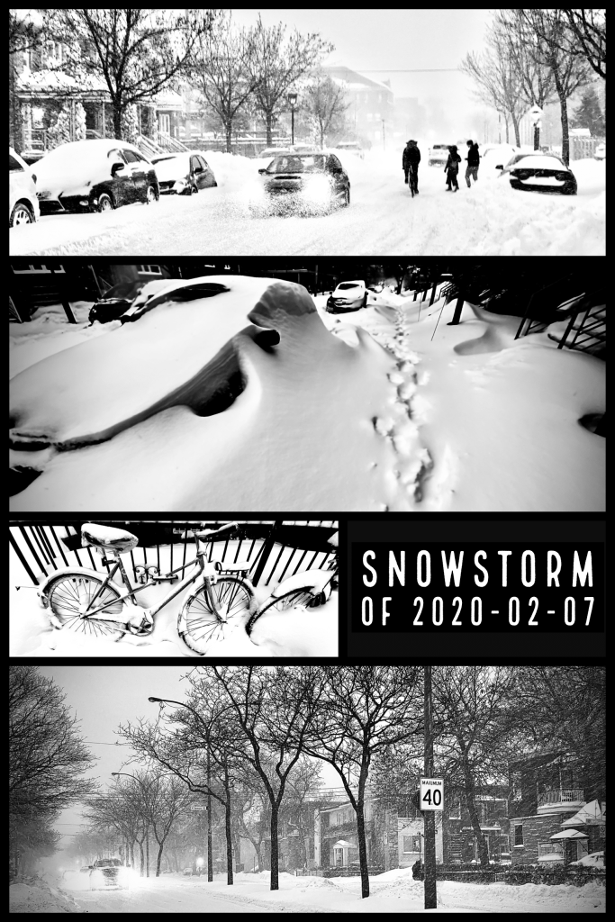 A Small Visual Summary of the 2020-02-07 Snowstorm