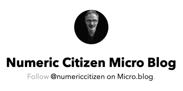 Numeric Citizen Micro.blog