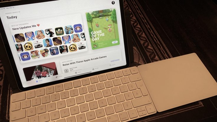 Previously, the stand alone Magic Keyboard with the Magic Trackpad 2
