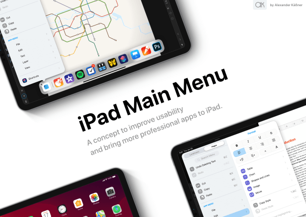 iPad main menu
