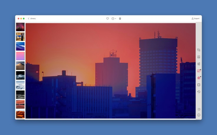 Editing images with Darkroom on the Mac