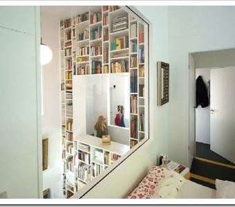 Haus W: la casa o la librería.