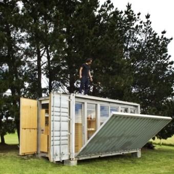 Port a Bach una casa container desde Nueva Zelanda
