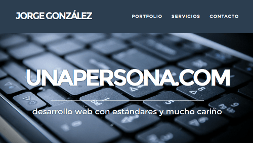 Jorge González - unapersona_com