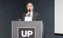 """El presidente de la Corte Suprema de Justicia de la Nación durante la conferencia """"La relación entre Justicia y Prensa"""" en la UP (Foto gentileza cij.gov.ar)"""