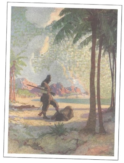 N.C. Wyeth illustration of Robinson Crusoe