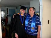David graduates from Pace University.