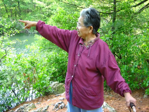 Grandma in Breakheart Reservation 2006