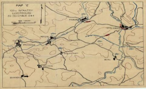 Map of von Rundstedt offensive in Joris area