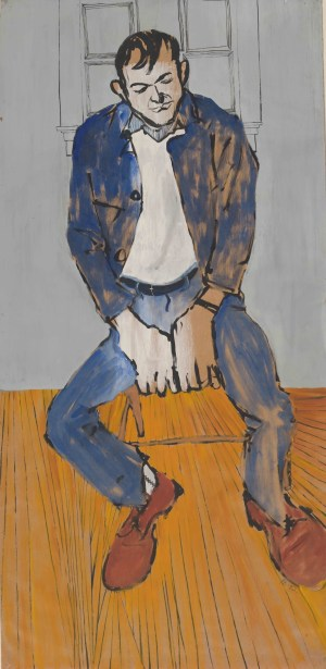 Portrait of Cy Twombly by Fielding Dawson