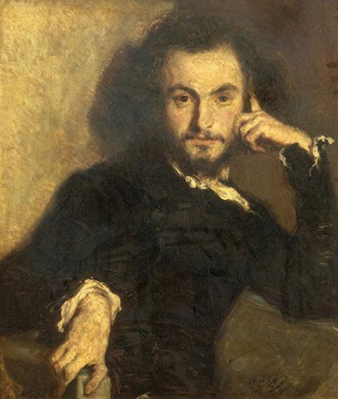 Baudelaire 1844 By Emile Deroy