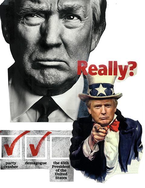 Donald Trump collage