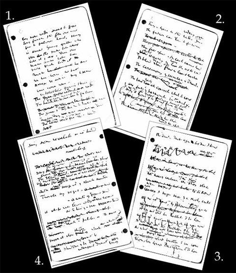Yeats handwriting collage