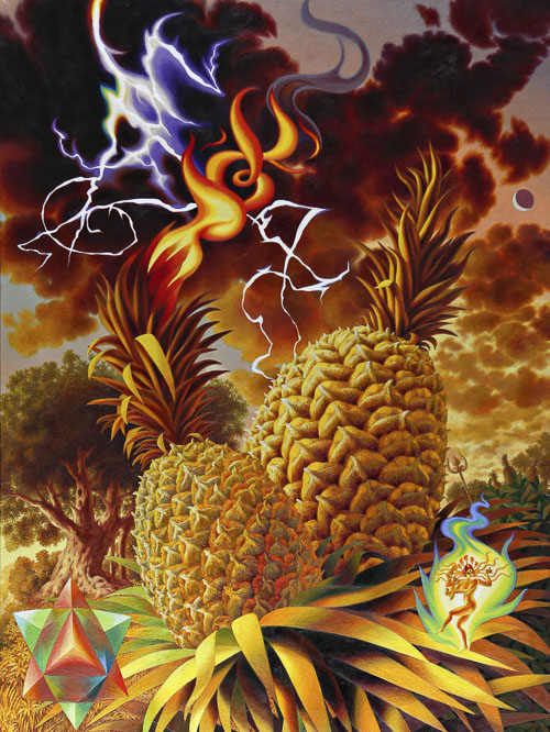 Combustion Espontanea 2016 oil on canvas 40 x 30 in 500px