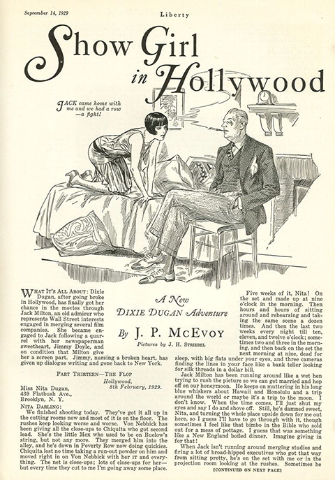 Show Girl in Hollywood page