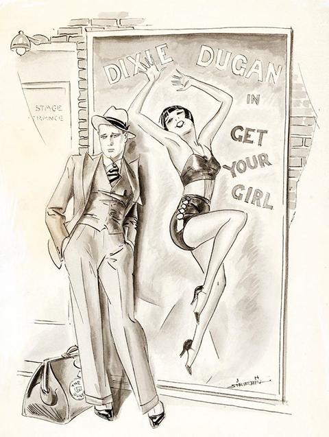 J P McEvoy Showgirl illus by John H Striebel
