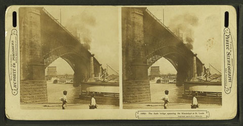 Eads Bridge between 1873-1909 courtesy New York Public Library Digital Collection_1