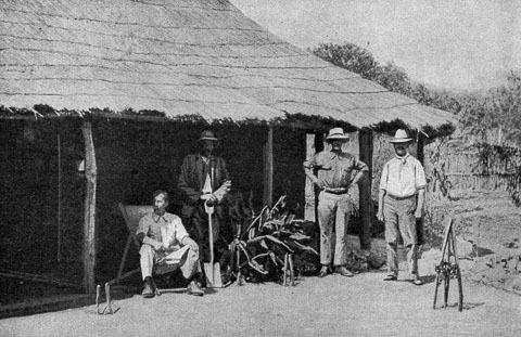 European settlers on fruit farm Southern Rhodesia early 1920s via Wikimedia Commons