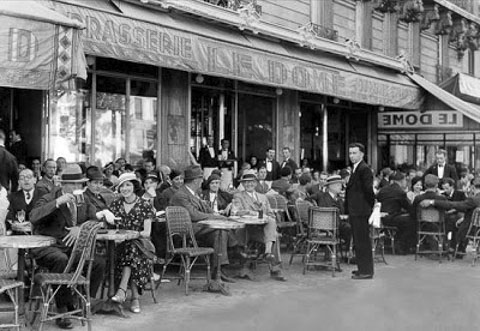Le Dome Cafe Paris 1930s