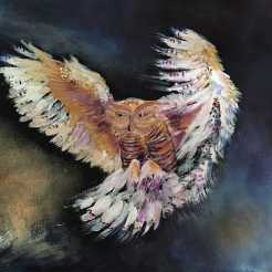Owl Spirit print from painting by Greer Jonas