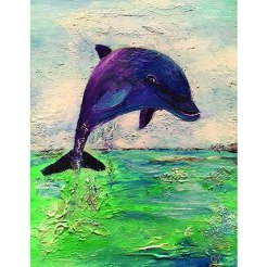 Dolphin print by Greer Jonas