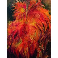 Rooster print by Greer Jonas