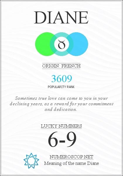 Name Diane Meaning - Origin - Description | Popularity 3609