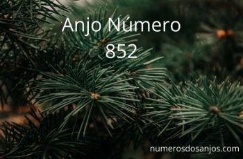 Anjo Número 852 – Significado do anjo número 852