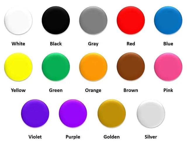 colores en ingles para niños