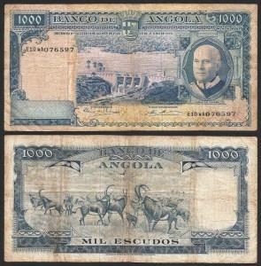 ANGOLA (29) - 1.000 ESCUDOS 'Américo Tomás' (1970) CIRC.